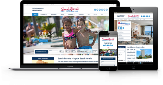 Sands Resorts Responsive Website