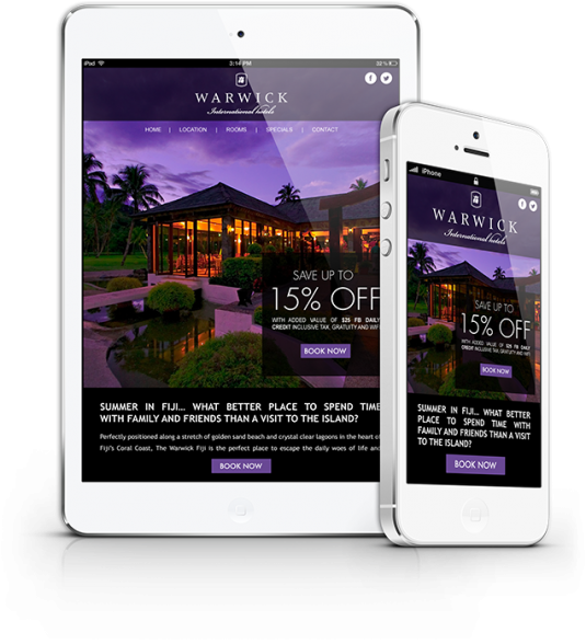 Warwick International Hotels Responsive Email Design